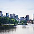 Philadelphia View From The Girard Avenue Bridge by Bill Cannon
