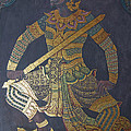 photo of art painting on Thai temple wall by Komkrit Muanchan