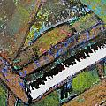 Piano Aqua Wall - Cropped by Anita Burgermeister