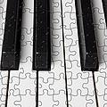 Piano Keys Jigsaw by Garry Gay