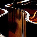 Piano Wood Grain Reflection by Steve Somerville