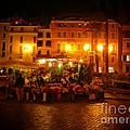 Piazza Flower Vendor by Michael Garyet