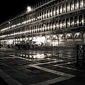 Piazza San Marco At Night Venice by Beth Riser