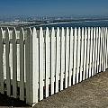 Picket Fence By The Cabrillo National Monument Lighthouse In San Diego by Randall Nyhof