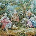Picnic In France Tapestry by Unique Consignment