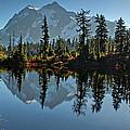 Picture Lake - Heather Meadows Landscape In Autumn Art Prints by Valerie Garner