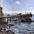 Pier Along Rocky Shore by Jill Battaglia