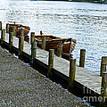 Pier At Lake Windemere by Miriam Shaw
