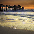 Pier At Sunset by Fran Gallogly