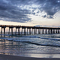Pier In The Evening by Sandy Keeton