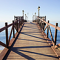 Pier On Costa Del Sol In Marbella by Artur Bogacki