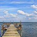 Pier On Lake Yale by Betty Eich