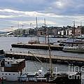 Piers Of Oslo Harbor by Carol Groenen