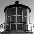 Pigeon Point Lighthouse Beacon - Black And White by Carol Groenen