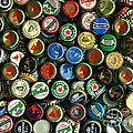 Pile Of Beer Bottle Caps . 9 To 12 Proportion by Wingsdomain Art and Photography