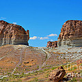 Pilot Butte Rock Formation Iv by Donna Greene