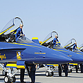 Pilots Of The Blue Angels Flight by Stocktrek Images