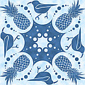Pineapple And IIwi Hawaiian Quilt Block by Alison Stein