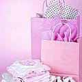 Pink Baby Shower Presents by Elena Elisseeva