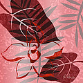 Pink Poster Floral II by Ruth Palmer