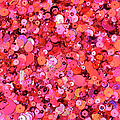 Pink Sequins Of Various Shapes And Sizes by Andrew Paterson