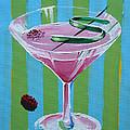 Pink Stripe Martini by Michael Baum