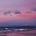 Pink Sunset Over Mackinac Michigan by LeeAnn McLaneGoetz McLaneGoetzStudioLLCcom