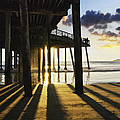 Pismo Pier Sunset II by Sharon Foster
