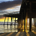 Pismo Pier Sunset IIi by Sharon Foster