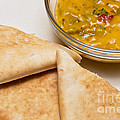 Pita Bread With Brocoli Cheese Dip by Andee Design