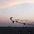 Pivot Irrigation And Sunset by Art Whitton
