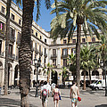 Placa Reial Barcelona Spain by Matthias Hauser