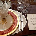 Place Setting Of The White House China by Everett