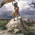 Plains Native American: Signal, 1873 by Granger