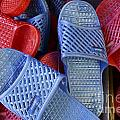 Plastic Slippers Chinatown Vancouver by John  Mitchell