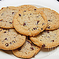 Plate Of Chocolate Chip Cookies by Andee Design