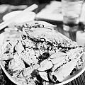 Plate Of Spicy Crab Seafood At A Table In An Outdoor Cafe At Night Kowloon Hong Kong Hksar China by Joe Fox