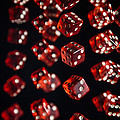 Playing Dice Being Rolled by Ted Kinsman
