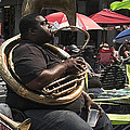 Playing The Tuba _ New Orleans by Kathleen K Parker