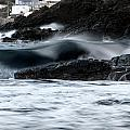 playing with waves 2 - A beautiful image of a wave rolling in noth coast of Menorca Cala Mesquida by Pedro Cardona Llambias