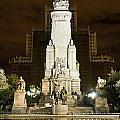 Plaza De Espana Madrid Spain by John Greim