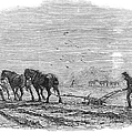 Ploughing, 1846 by Granger