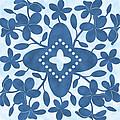Plumeria Hawaiian Quilt Block by Alison Stein