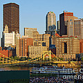 Pnc Park And River Boat by Stephen Whalen