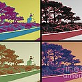 Point Loma Lighthouse Warhol by RJ Aguilar