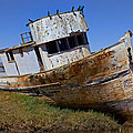 Point Reyes Beached Boat by Garry Gay