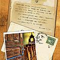 Polaroid Of Open Door To Church With A Bible Verse by Jill Battaglia