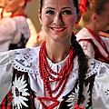 Polish Folk Dancing Girl by Mariola Bitner