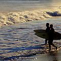 Ponquogue Surfers by Steve Gravano
