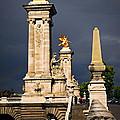 Pont Alexander IIi In Paris Before Storm by Elena Elisseeva